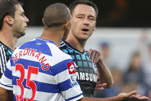 Chelsea captain Terry was handed the suspension and a $NZD 431,000 fine after being found guilty of using a racist slur towards Anton Ferdinand. Photo / Getty Images.