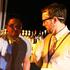 Jonny McKenzie from Wellington on stage with Calem Chadwick. Photo / Max Lemeshenko