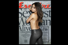 Mila Kunis on the cover of Esquire magazine. Photo / Esquire