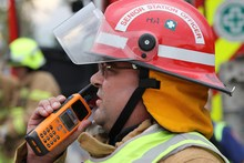 Firefighters in Victoria, Australia, are among the emergency services using Tait's services. Photo / Supplied