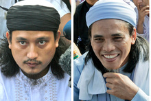 Convicted Bali bombers Imam Samudra (left) and Amrozi Nurhasyim. Photo / AP 
