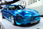 The Merecedes SLS AMG coupe electric shatters electric power's eco image, and the Audi Crosslane is a sharp looker.Photo / Jacqui Madelin