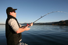 A wire line produced for Rob MacGregor on Lake Tarawera on opening day of the fishing season.Photo / Geoff Thomas