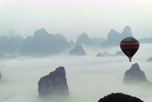 The misty magic of the Yangshuo Mountains, home to breathtaking landscapes... and a shaky power supply. Photo / Supplied