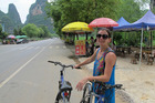 Renting a bike in rural China can be an exhilarating but often nail-biting experience. Photo / Shandelle Battersby
