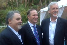 While John Key was in LA talking to Hollywood producer John Landau (left) and director James Cameron, top US intellectual property negotiators were in Wellington. Photo / Supplied