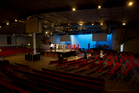 The boxing ring has been set up in the main auditorium at the Mt Wellington base of Destiny Church. Photo / Sarah Ivey