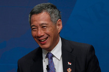 Singapore Prime Minister Lee Hsien Loong believes New Zealand and Singapore can do more together. Photo / AP