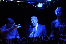 DJ Winston Peters with Peter Urlich at The Whiskey. Photo / Supplied