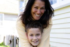 Manaaki Ropiha with mother Kara at home in Auckland. Photo / Doug Sherring