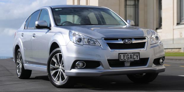 Subaru's new flagship, the Legacy X. Photo / David Linklater