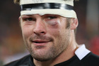 Richie McCaw's inner glow about yesterday's performance could be sensed despite his swelling eye. Photo / Getty Images