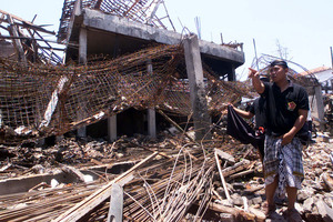 The scene of one of the Bali bombings in 2002. File photo / AP