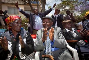 (From left) Jane Muthoni Mara, Wambuga Wa Nyingi, and Paulo Muoka Nzili. Photo / AP