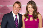 Liz Hurley says the change in Shane Warne's look is totally natural.Photo / AP