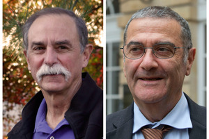 American physicist David Wineland, left, and French physicist Serge Haroche. Photo / AP