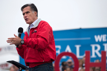 Republican presidential candidate, former Massachusetts Gov. Mitt Romney speaks in Vandalia, Ohio. Photo / AP 