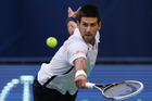 Novak Djokovic barely broke a sweat in yesterday's easy victory. Photo / Kim Cheung