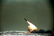 Nuclear-powered submarines carrying long-range ballistic missiles with multiple nuclear warheads were really designed for retaliation from the grave. Photo . AP