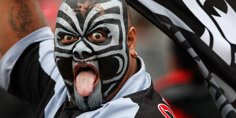 A passionate Warriors fan. Photo / Brett Phibbs