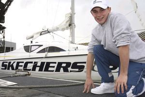 Michael Perham by his yacht Cheeky Monkey in 2007. Photo / Supplied