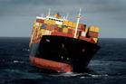 The container ship Rena. Photo / Alan Gibson
