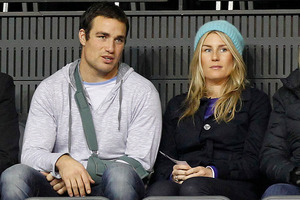Richard Kahui, seen here with girlfriend Amy Rhodes, is one of only three World Cup casualties among the All Blacks. Picture / Christine Cornege