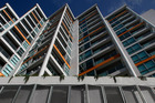 Scene Three apartments, 30 Beach Rd, Auckland CBD. Owners face big leasehold land payment rise. Photo / Kenny Rodger