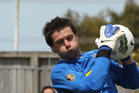 Jacob Spoonley will pull on the keeper's gloves if Scott Basalaj fails a fitness test. Photo / Paul Estcourt