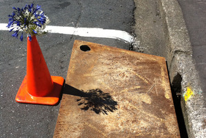 The drain in Wellington where Peter Black's body was found. Photo / Supplied