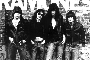 Tennis shoes were an integral part of The Ramones' grungy punk rock look.