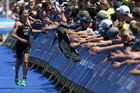 New Zealand triathlete Andrea Hewitt at the women's elite section of ITU World Cup Auckland triathlon event last year. Photo / Greg Bowker