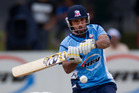 The Auckland Aces batsman Azhar Mahmood in action. Photo / Brett Phibbs