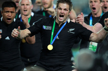 Richie McCaw, who tasted World Cup glory last year, says Wayne Barnes became frozen with fear during the All Blacks' 2007 World Cup quarter-final loss to France. Photo / Doug Sherring