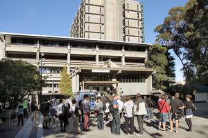 Students gather at Canterbury University. Photo / File