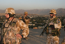 New Zealand soldiers on patrol in Afghanistan. Photo / Patrick Gower