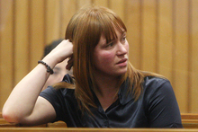 Kara Hurring at her sentencing at the Rotorua District Court in August.