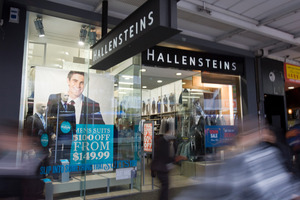 Retailer Hallenstein Glasson's share price rose yesterday. Photo / Paul Estcourt