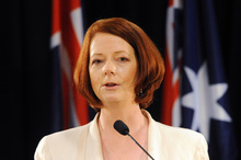 Julia Gillard lashed out at Opposition leader Tony Abbott during a dramatic day in the Australian federal parliament. Photo / NZPA