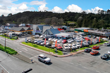 The two-storey building was designed as a service station and motor vehicle sales premises. Photo / Supplied