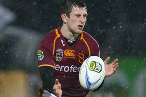 Scott Eade of Southland passes during the round 15 ITM Cup match between Southland and Manawatu. Photo / Getty Images.
