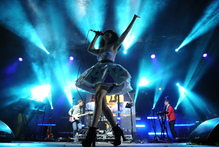 Kimbra performing on stage at Australia's Splendour In The Grass in July. Photo / Getty Images