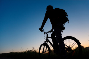 Cycling at night requires a level of visibility the small tail light does not always provide. Due to this, Vizibelt has created a light belt for cyclists to wear. Photo / Thinkstock