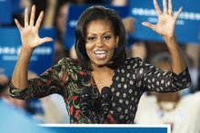 Michelle Obama has the highest approval rating in US politics at the moment - above that of her husband, Barack. Photo / AFP
