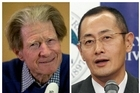 British scientist John Gurdon, left, speaks in London, and Japanese scientist Shinya Yamanaka, right, speaks in Kyoto after they were named winners of the 2012 Nobel Prize in medicine for discovering that mature, specialized cells of the bo