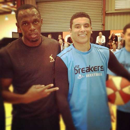 Westlake Boys High, Breakers and Tall Blacks basketballer Tai Webster was stoked to meet Usain Bolt on his flying promotional visit to Auckland today.