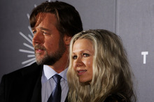 Russell Crowe and Danielle Spencer at a premiere last year. Photo / Getty Images