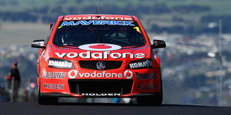 Jamie Whincup drives the #1 Team Vodafone Holden during the Bathurst 1000 on October 7. Photo / Getty Images
