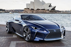 Lexus' LF-LC concept takes cues from the LFA supercar and features the next version of the company's hybrid powertrain. Photo / Supplied
