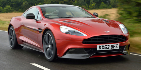 Aston Martin V12 Vanquish wraps a comfy seat around you and blasts off.Photo / Jacqui Madelin